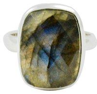 Lovegem Genuine Labradorite Ring 925 Sterling Silver,Size:7 , AR3103