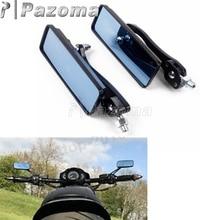Универсальный черный мотоцикл 10 мм прямоугольник зеркало заднего вида боковые зеркала для Harley Touring Street Bike Yamaha Kawasaki Choppers