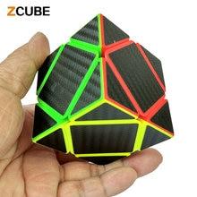 Zcube НОВЫЕ Прибыл Углеродного Волокна Стикер Skewb Magic Cube Скорость Гладкой Головоломка Кубики Твист Развивающие Игрушки Специальный Подарок Детям-48
