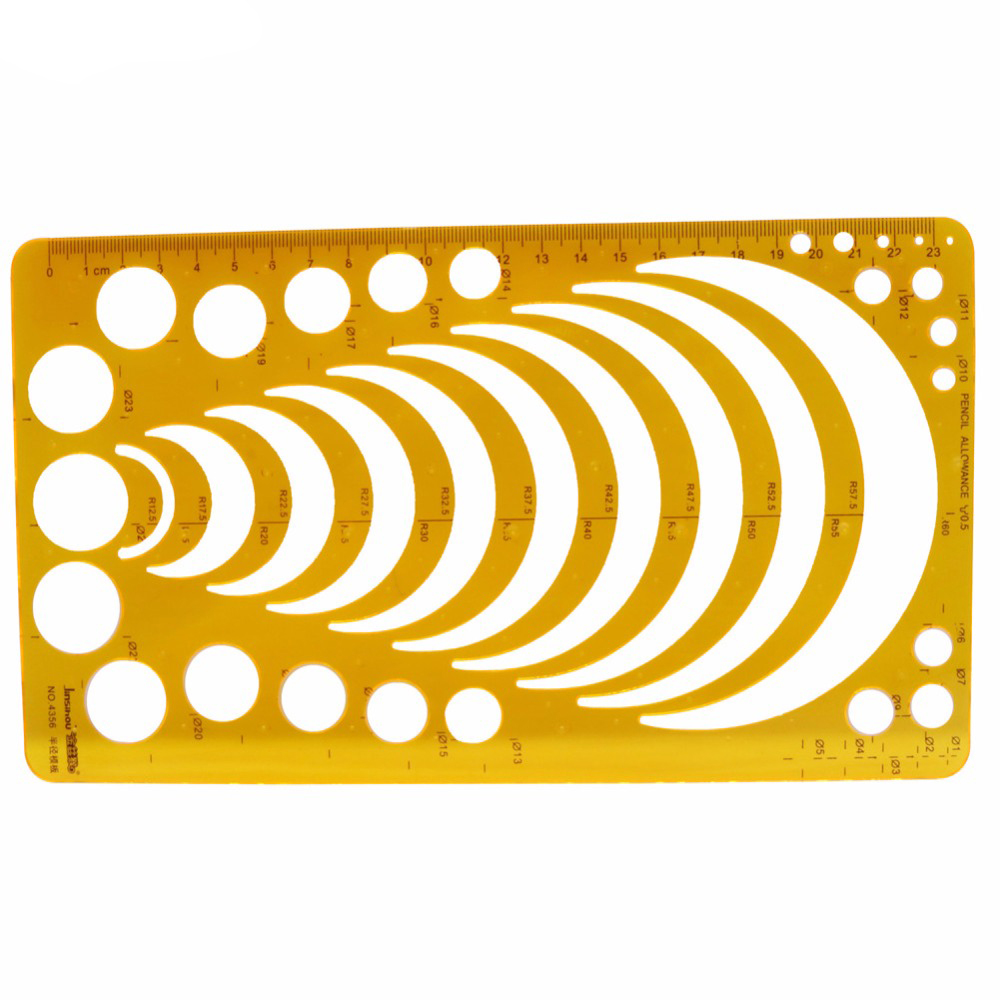 1 piezas orange radio plantilla plástica avanzada orange 23 cm ...