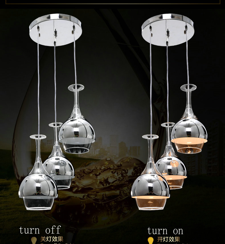 3 Light Restaurant Lights Stylish Minimalist Modern