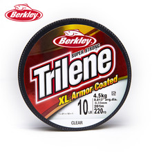 Berkley Versatile Trilene XL Armor Coated 220yd 201m Fishing Line Clear Strong Durable Smooth Nylon Filler Spools Pesca Tackle