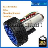 Bringsmart JGA25 371 Gear Motor Smart Car Wheel Motor DC 12 V Hall Encoder Gear Motor