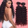 Глубокая волна бразильские волосы 4 связки вьющиеся человеческих волос natural black бразильский глубокая волна волос девы дешевые бразильские вьющиеся волосы