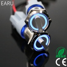 22 мм 2 3 позиционный переключатель, кнопочный переключатель, DPDT, освещенный металлический телефон со светодисветодиодный, водонепроницаема...