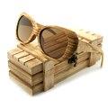 BOBO Zebrawood Polarizadas de Los Hombres Gafas de Sol de Bambú PÁJARO Nuevo de La Manera Diseño de Marca Con Tinte Espejo Reflectante gafas de sol