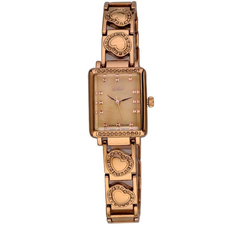 Julius Lady Woman Wrist Watch Quartz Hours Best Fashion Dress Retro Color Korea Bracelet Band Rectangle