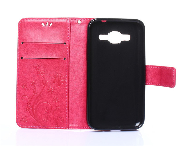 Leather + Soft Silicon Wallet Flip Cover For Samsung Galaxy Core Prime G360 G360H G361F Case