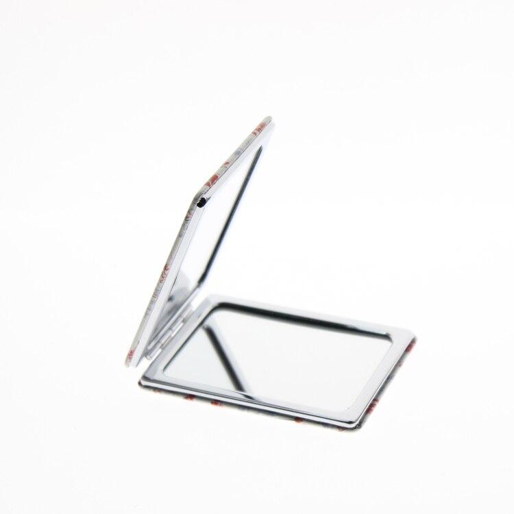 1 stks 8.5 * 6 cm Rechthoek Rvs Fold Miroir De Maquillage - Huidverzorgingstools - Foto 2