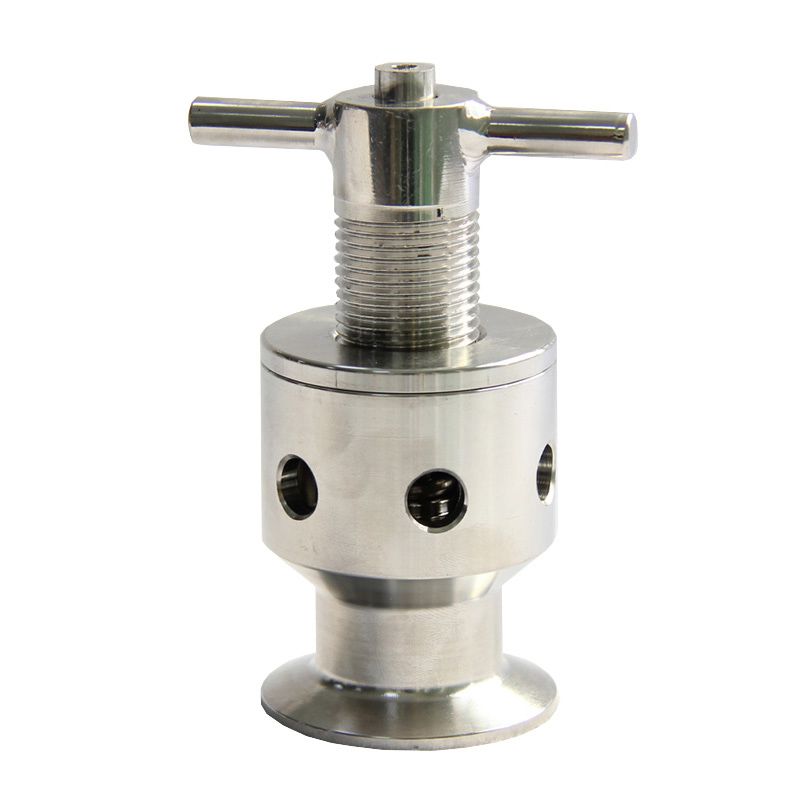 "1.5"" Tri Clamp 0.5 5 Bar SUS304 Sanitary Adjustable Pressure Relief Safety ValveValve   -"