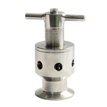"1.5"" Tri Clamp 0.5 5 Bar SUS304 Sanitary Adjustable Pressure Relief Safety Valve"