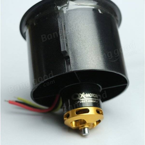 QX-Motor 70mm 6 palas FED con QF2827 2300KV/3500KV Motor sin escobillas