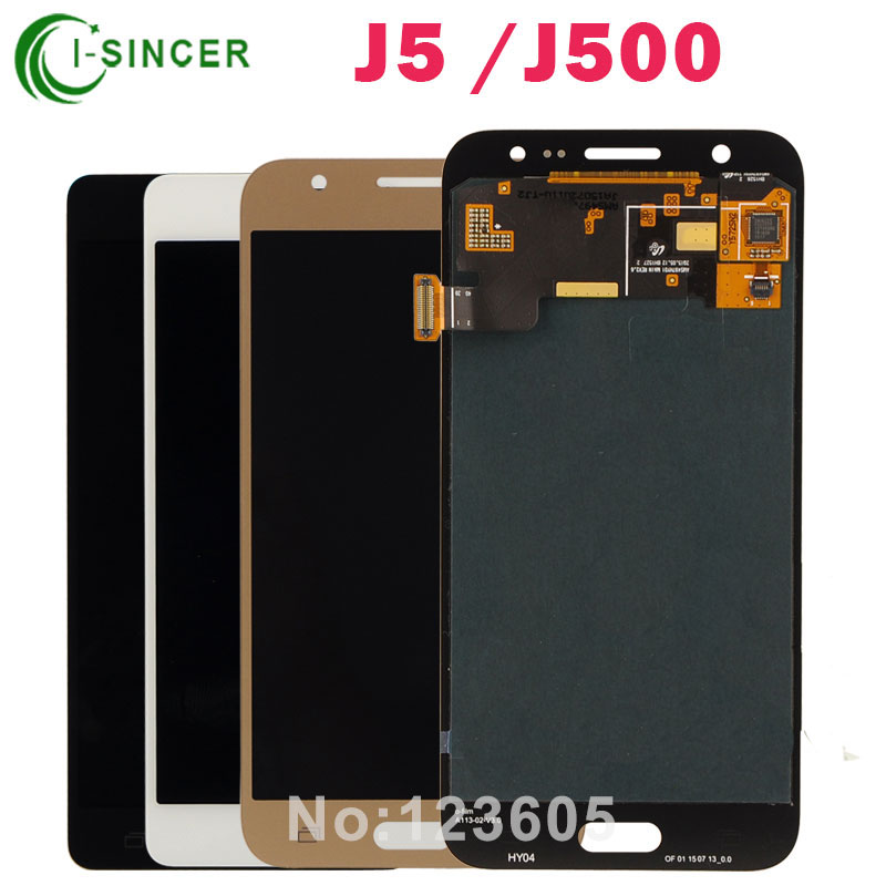 ФОТО 5PCS/LOT Full LCD Screen For Samsung Galaxy J5 J500 LCD Display Digitizer Touch Screen Assembly Gold Black +Tools Free Shipping