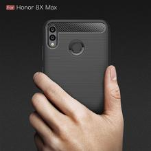 For Huawei Mate 20 Lite Case Honor 8X Max 7A Pro For Huawei P20 Lite Pro Y6 Prime 2018 Y9 Nova 3 3i 10 Case Coque Carbon Fiber(China)