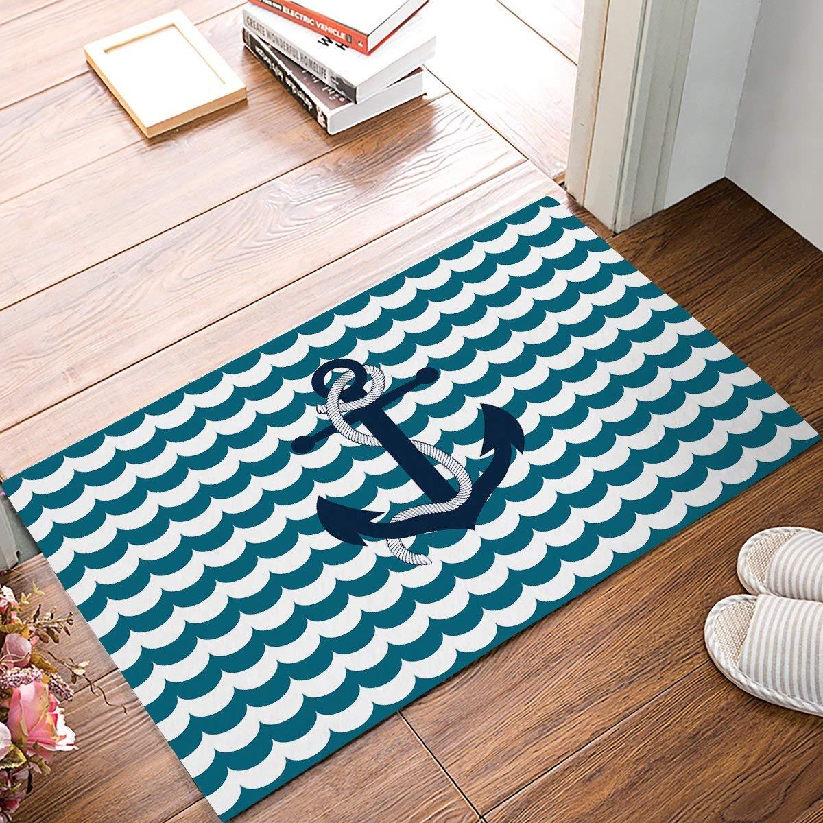 Corrugated Wave Anchor Door Mats Kitchen Floor Bath