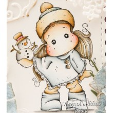 snowman girl cartoon pattern Stamp And metal die Scrapbooking Alphabet Embossing Craft Silicone Transparent Stamps
