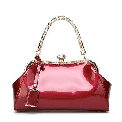 Sac à main de mode pour femmes en cuir PU Totes poignée en métal diamants perle boucle épaule sacs à bandoulière femme