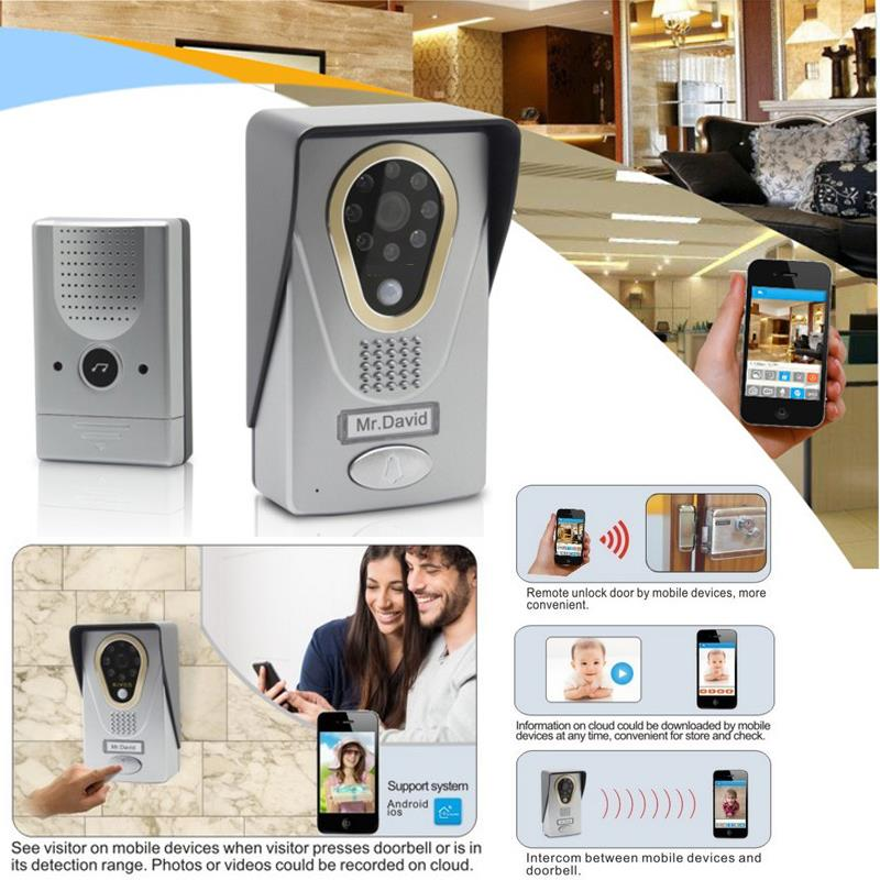 Wi-Fi видеодомофон дверной звонок Домофон | беспроводной ip-домофон интерфон глазок камера дверной звонок смартфон видео