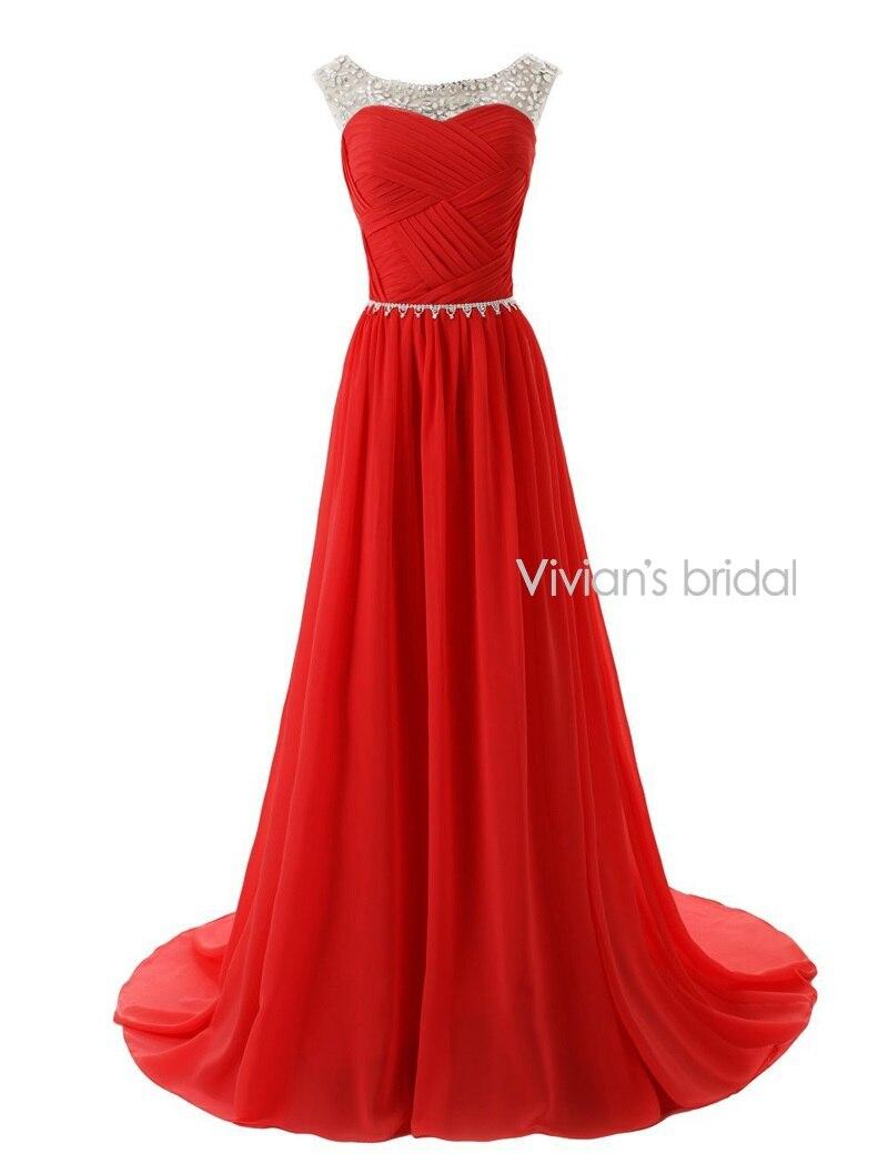 Вивиан Свадебные Sexy Бисером Вечерние Платья Шифон EV001 платье вечерние в пол платья женские - Цвет: picture color