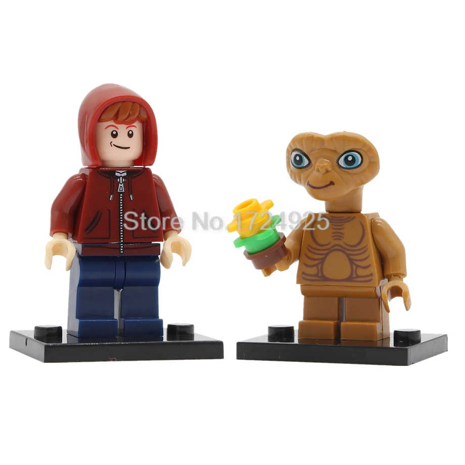 Classic Movie ET Figure Single Sale Elliott Building Blocks Set Model Kits  Bricks Toy for Children