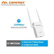 COMFAST 5 ГГц WiFi усилитель беспроводной-N маршрутизатор 1200 м сетевой расширитель Wi-Fi ретранслятор усилитель мощности Roteador 2 антенны wifi роутер