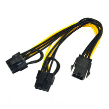 Power-Converter-Cable PCIE 8pin Video-Graphics-Card 6pin Male Feamle-To-Dual-8 CPU