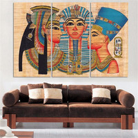 Wholesale Cheap Hand Painted Printed On Canvas Painting Pictures Frameless Painting Decorative Painting Egypt Wall Art