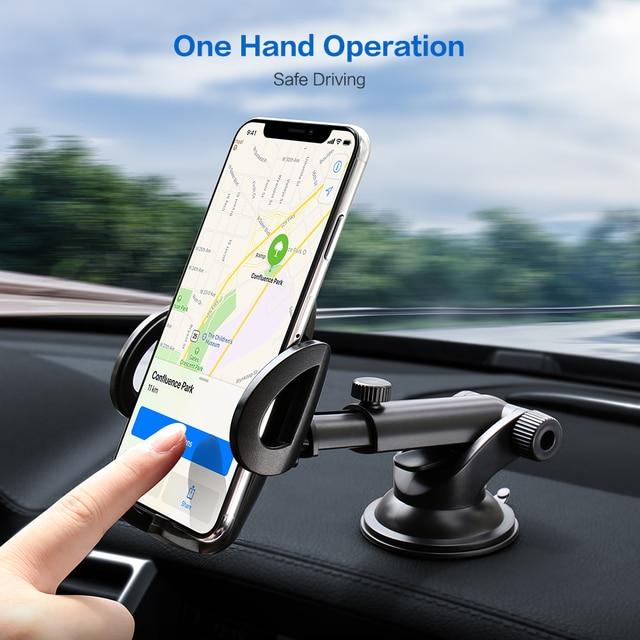 FLOVEME Luxury Car Phone Holder For iPhone XS Max 360 Rotation Phone Mount Holder Windshield Mount Stand Support Telefon Tutucu 5