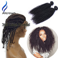 Kinky Curly Hair With Frontal Baby Hair Around Alicrown Hair 360 Lace Frontal With Bundles Kinky Curly Virgin Hair With Closure