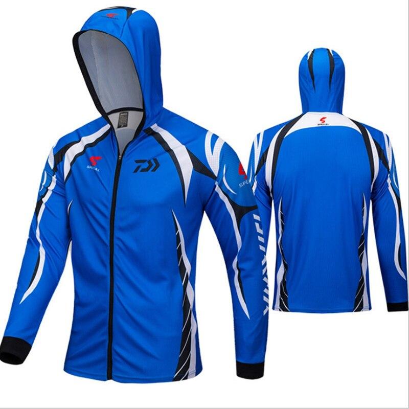3 Colors Available 2018 DAIWA New outdoor fishing hoodie top quick-drying breathable hiking trekking sunscreen shirt send gift daiwa fishing shirts