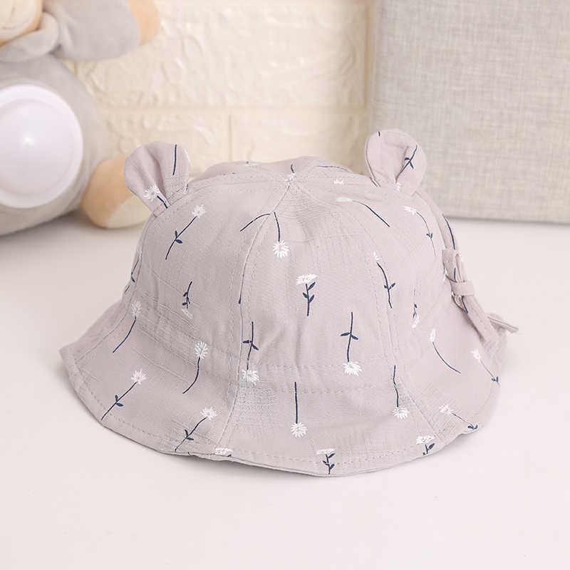 ソフト綿夏帽子夏春ベビー少年少女漫画帽子 Sunhat 幼児子供バケツ帽子新生児キャップ