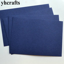 100PCS LOT 13 colos choose Navy blue blank cards Paper crafts Early learning educational toys Post