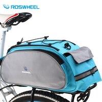 Roswheel Bicycle Bag Multifunction 13L Bike Tail Rear Bag Saddle Cycling Bicicleta Basket Rack Trunk Bag