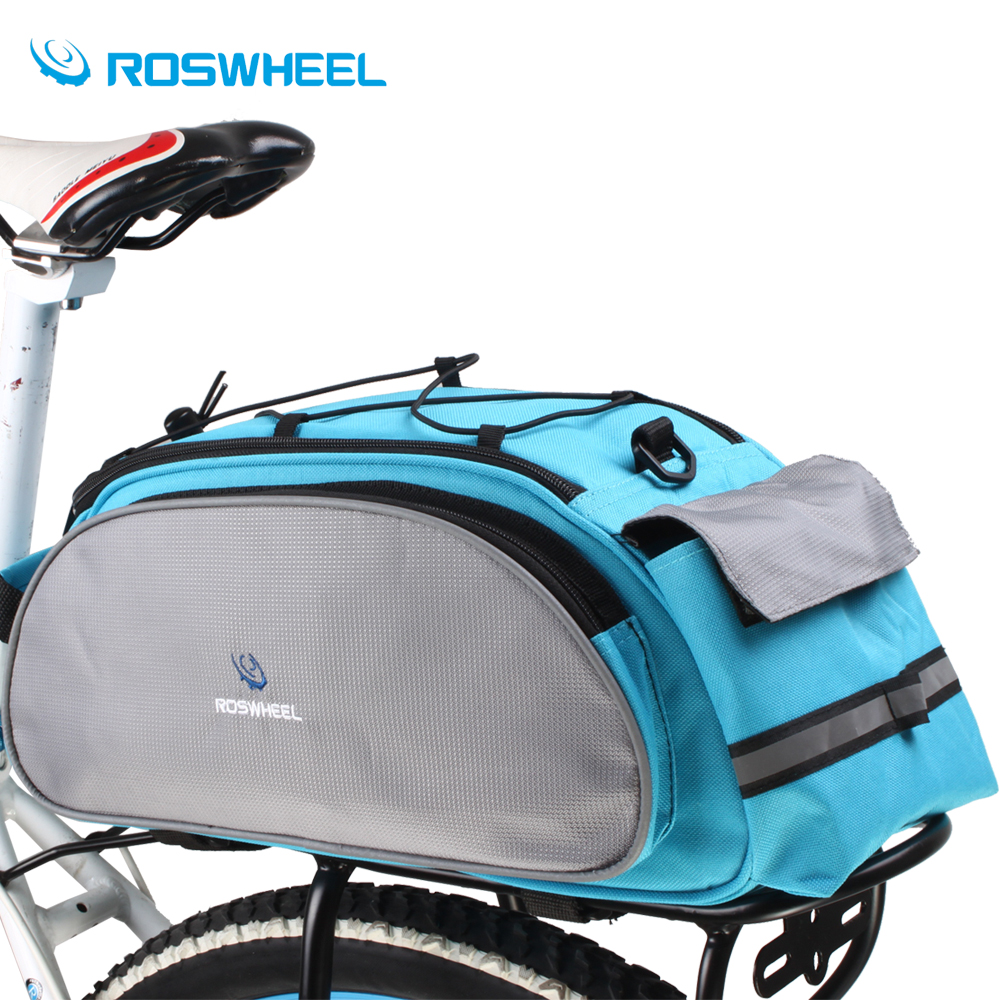 Roswheel Bicycle Bag Multifunction 13L Bike Tail Rear Bags Saddle Cycling Bicicleta Basket Rack Trunk Bag Shoulder Bike Bag ccc generic 2 3 5l bicycle saddle bag cycling rear bag