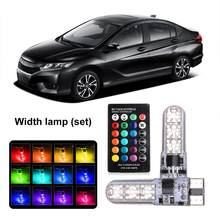 Professional Car Width Light Remote Change Bright Lamp T10 Silicone Motorcycle LED Colorful Small Lamp License Plate Light(China)