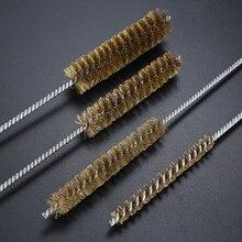 все цены на Wire Tube Brush Cleaning Tools 10mm 15mm 20mm 25mm Diameter Spiral Twisted Brass Wire Tube Brush 30cm онлайн