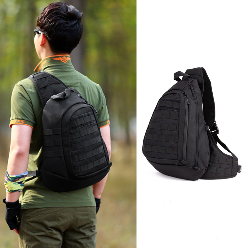 Nieuw Field Tactical Chest Sling Pack Outdoor Sport One Single Shoulder Man Big Large Ride Rugzak voor backpack Advanced Tactical