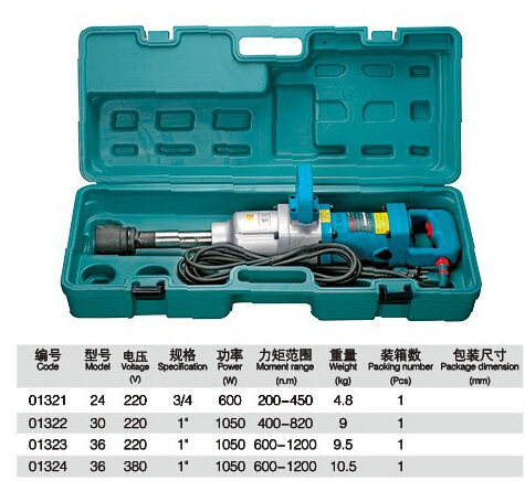 "Made In China 220V 1"" 1050W 600-1200N.M Electric Pneumatic Pick Air Wrench Automotive Tools NO.01323"
