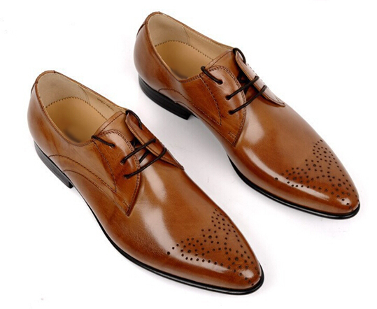 New-2015-men-s-shoes-oxfords-top-quality-brown-black-cowhide-genuine-leather-men-shoes-Italy