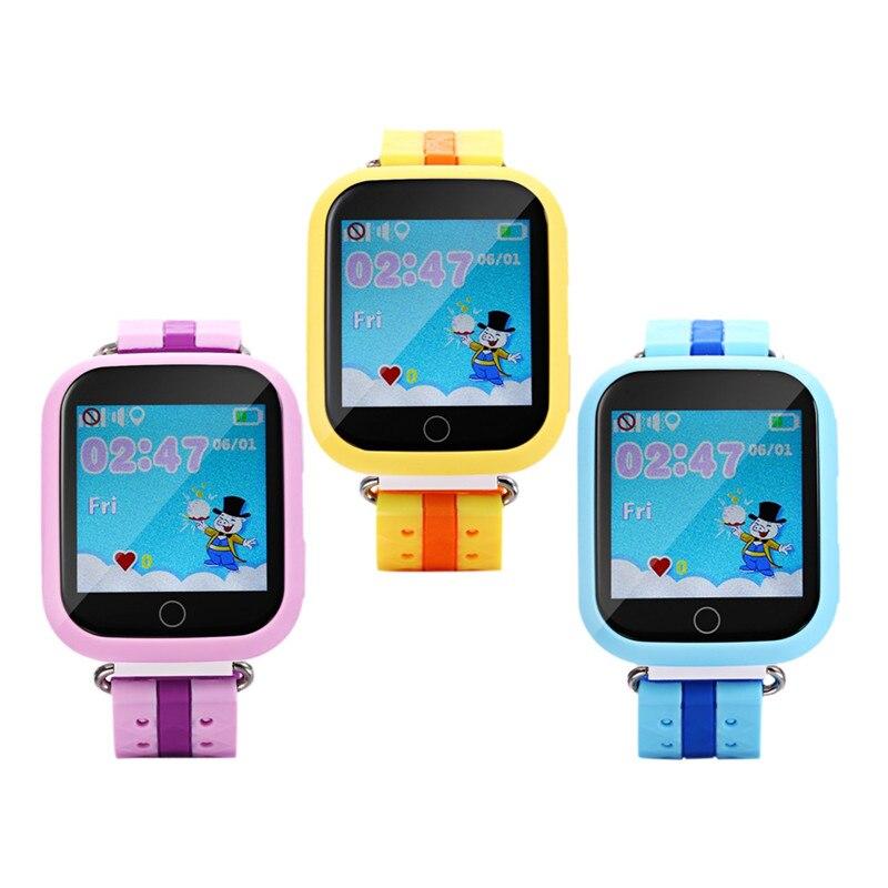 GPS Смарт-часы Q750 q100 детские часы Wi-Fi 1.54 дюйма Сенсорный экран SOS вызова расположение устройства трекер для малыша безопасный pk q50 Q60 Q80