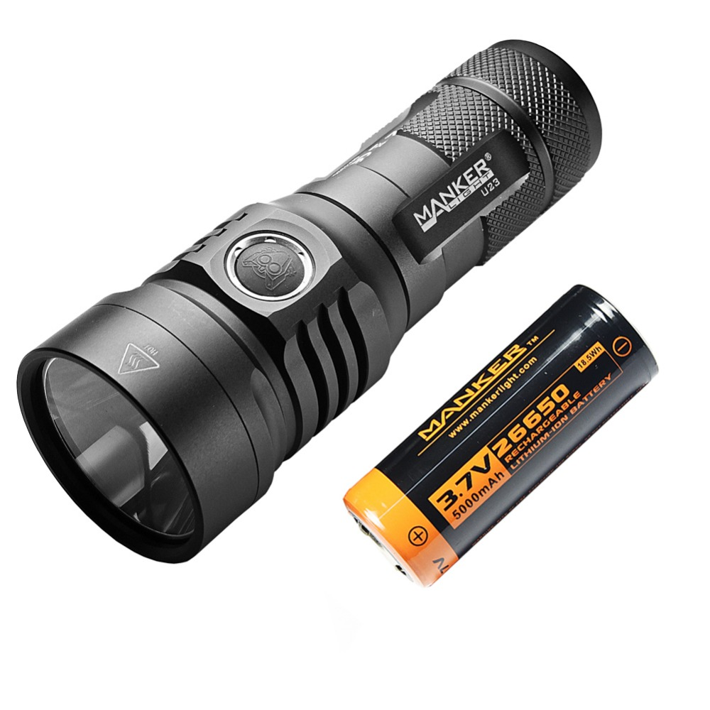 Manker U23 2000 Lumens CREE XHP35 HD LED Flashlight Type-C USB Torch With 5000mAh Rechargeable 26650 Battery