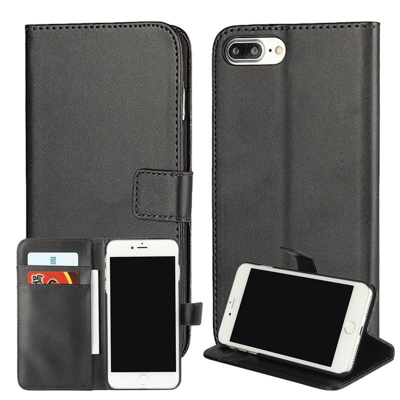 Para iphone 7 plus monedero de la cartera de casos cubierta de cuero fundas coqu