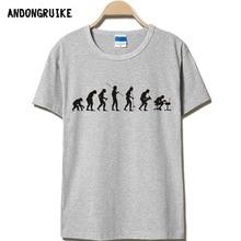 Evolutionäre geschichte T-shirts Männer Casual Kurzarm T-Shirt O Hals baumwolle Herren t-shirt Mann Übersteigt T-stücke Freies Verschiffen plus größe