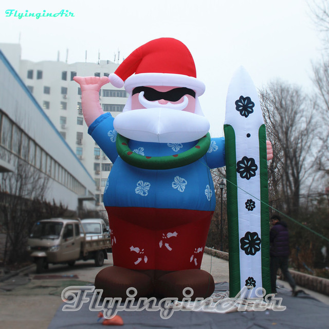 Inflatable Christmas Decorations.Us 358 8 Multi Size Surfing Inflatable Santa Claus For Outdoor Christmas Decoration In Party Diy Decorations From Home Garden On Aliexpress Com
