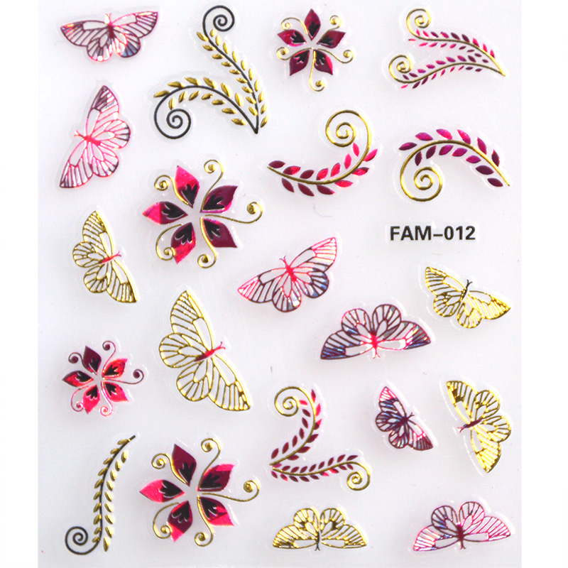 Beautiful Decals 30Sheets/Lot Self Adhesive Nail Art Transfer Stickers 3D Design Manicure Tips Decal Decor for Polish UV Gel 24pcs lot 3d nail stickers decal beauty summer styles design nail art charms manicure bronzing vintage decals decorations tools