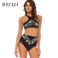 WEIXIA 1808 Bikinis Set For Women Push Up Bathing Suit Swimwear Women Sexy Thong Brazilian Bikinis