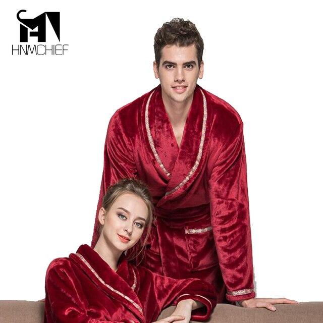 e13e8e4f4ddde0 Marca roupas roupão homens robe Outono inverno grosso longo coral fleece de  flanela banho dos do sexo masculino alongar mais tamanho sólida