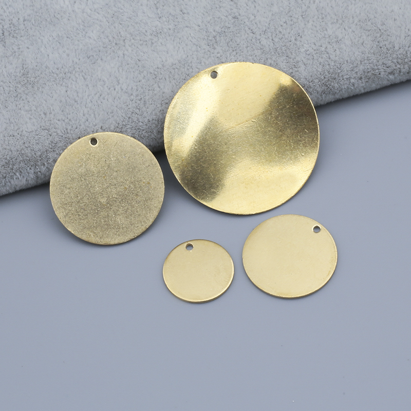 Raw Brass 15mm 20mm 25mm 33mm Dia Metal Stamping Blank Round Disc Charms Jewelry Findings For Pendant Necklace Making Small Hole