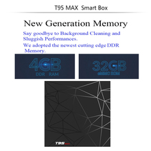 Factory Sale T95 MAX Allwinner H6 6K tv box Quad Core Android 8.1 TV BOX With Customized 17.5 Media Player