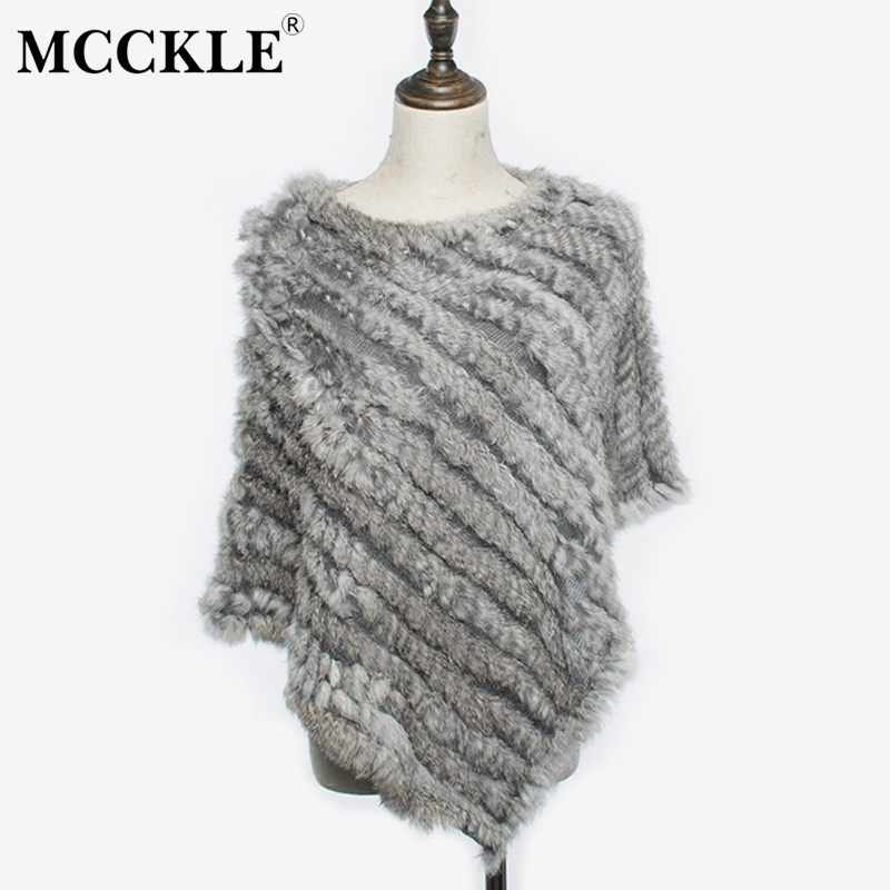 Women's Rabbit Fur Sleeveless Irregular Poncho Cape Knitted Shawl Womens 2019 Spring Winter Fashion Triangle Fluffy Female
